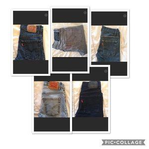 Huge LOT LEVIS BOYS JEANS SIZE 12- 5 pairs 1 price
